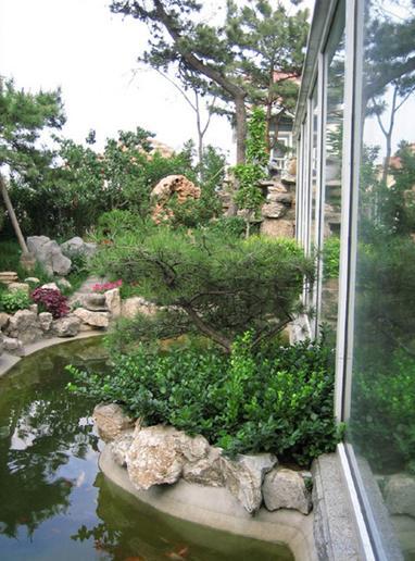 园林小品之假山水池2图片